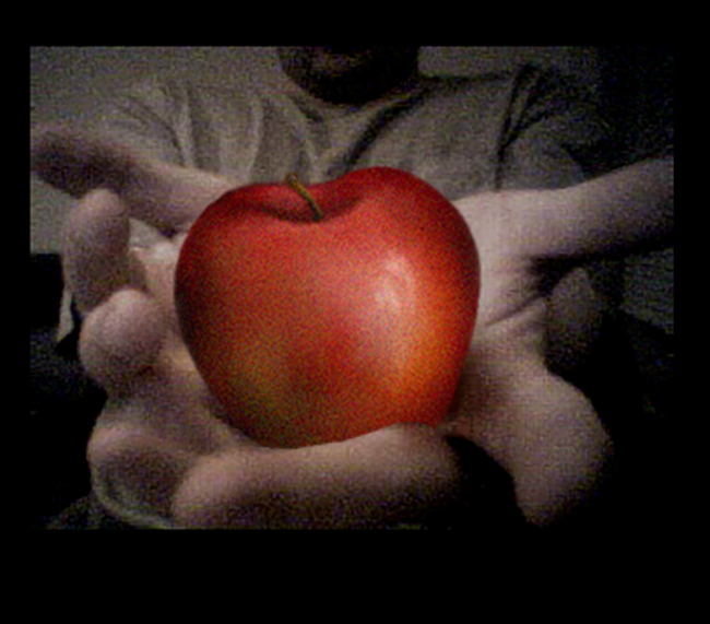 apple in hands