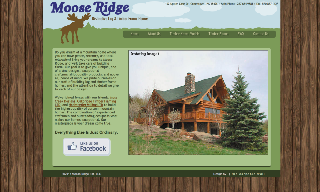 Moose Ridge Website Concept