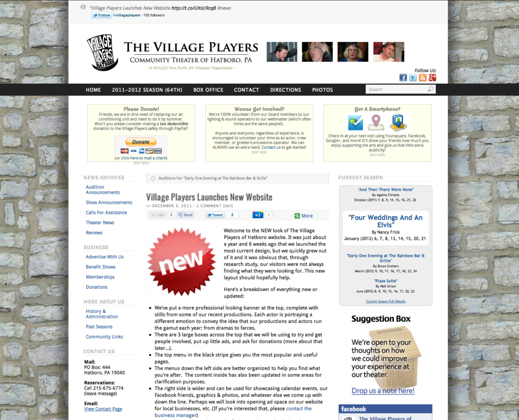 The Village Players - Version 2