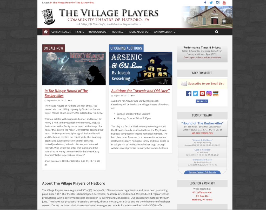 Village Players of Hatboro website